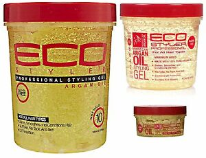 eco styling gel on hair eco styler argan professional hair conditioning no 4340