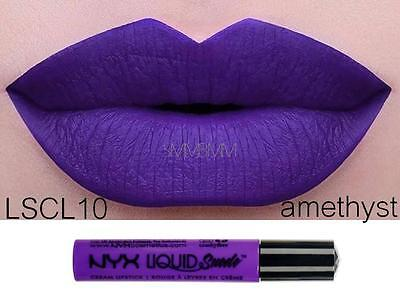 NYX Liquid Suede Cream Lipstick 'AMETHYST' LSCL10 Purple New Sealed Authentic