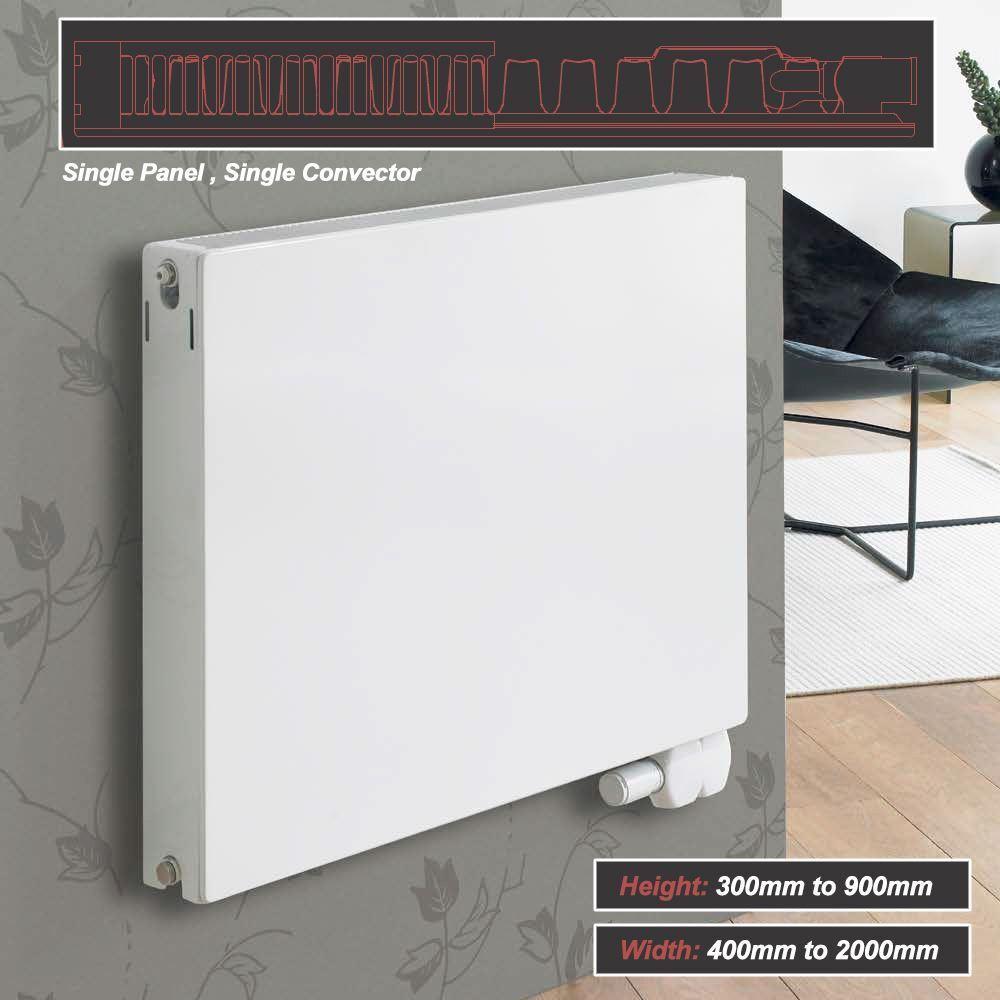 Ultraheat plat  planal  Blanc Horizontale Radiateurs seul panneau unique Convecteur