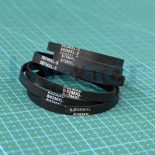 5 Rubber MXL Timing Belt Synchronous 118mm-160mm 3D Printer Closed Loop