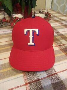 Vtg-Texas-Rangers-New-Era-5950-Wool-Fitted-Hat-Size-7-1-4-Pro-Model-MLB-Cap-90s