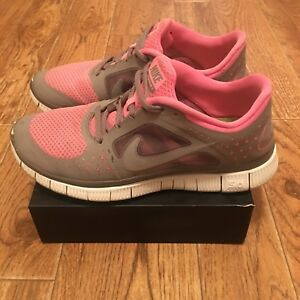 pretty nice f2172 0f85f Details about Nike Free Run 3 Women's Running Shoes Gray/Tropical Pink  510643 603 US Size 8