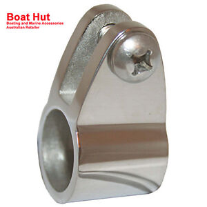 Image is loading New-Boat-Canopy-Fitting-TUBE-KNUCKLE-CLAMP-Suits-  sc 1 st  eBay & New Boat Canopy Fitting TUBE KNUCKLE CLAMP Suits 22mm OD 316 ...