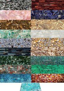 Marvelous Color Variation Furniture Marble Mosaic Random Agate Inlaid Table Top