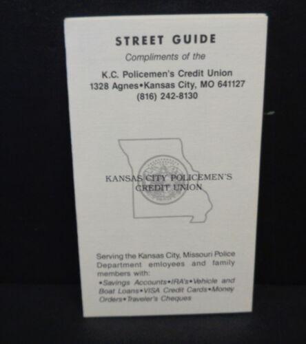 KCK 1970/'S WYANDOTTE JOHNSON CO TOO KANSAS CITY MO POLICE DEPT STREET GUIDE