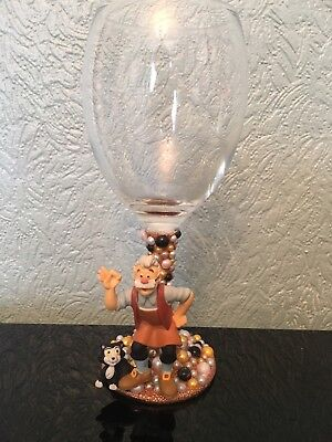 Disney Gepeto Figure Wine Glass Xx Pinocchio Xx Geweldige Prijs