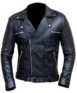 Details zu The Walking Dead Negan Jeffrey Dean Morgan Black Leather Jacket