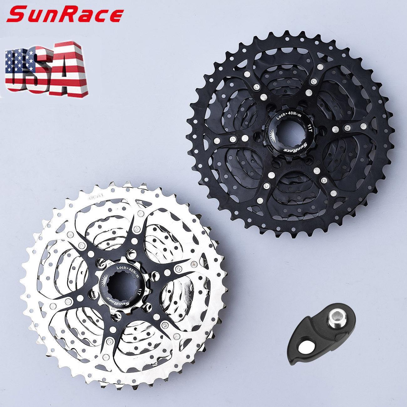 SunRace 9 Speed 1140T Cassette & Adapter Alloy MTB Bike Shimano SRAM Freewheel