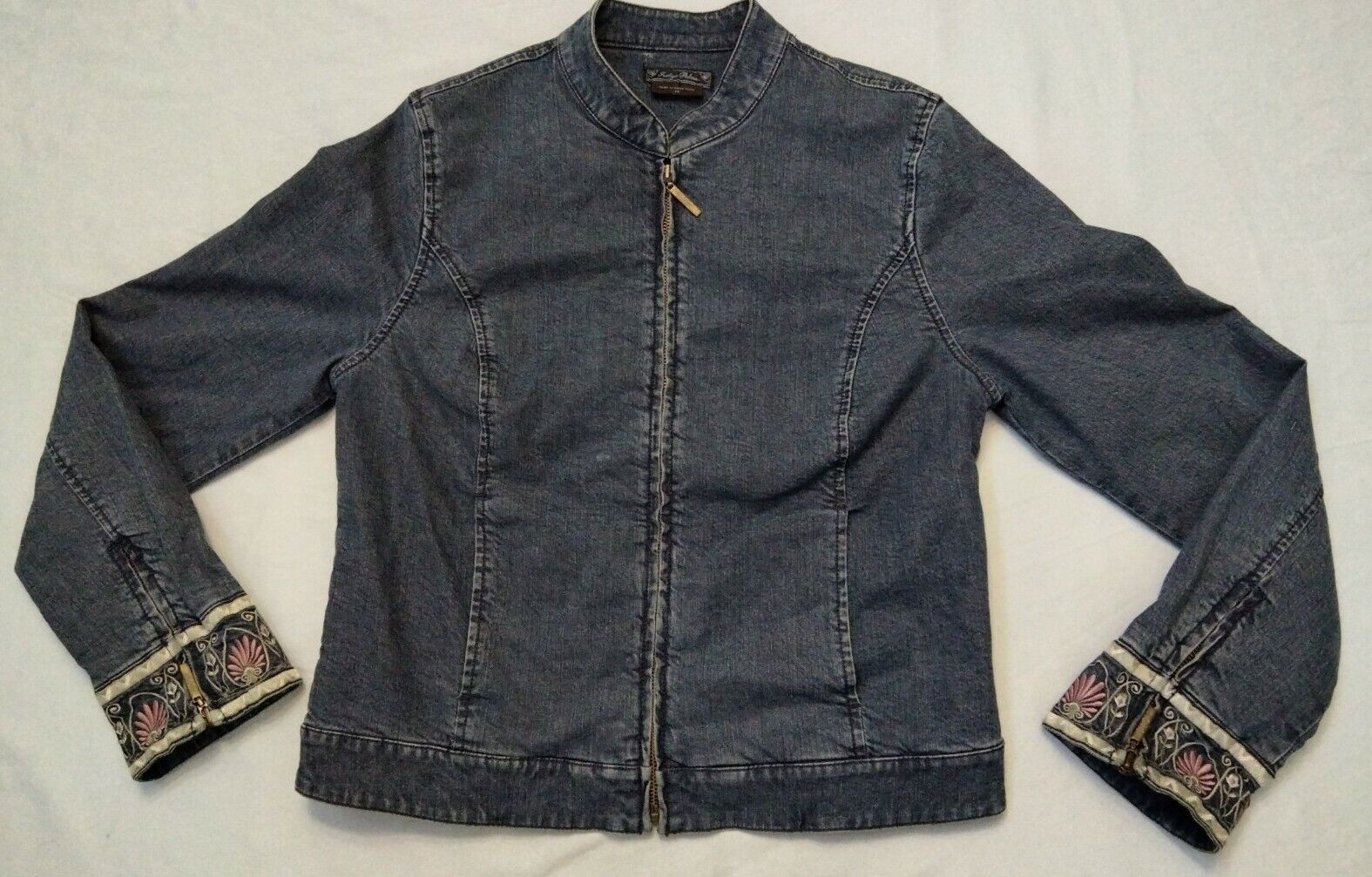 Tommy Bahama Indigo Palms Denim Jean Jacket Size M Cotton