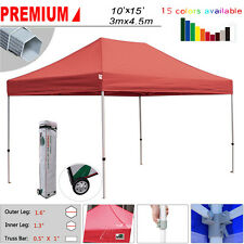Ez Pop Up Canopy 10x15 Outdoor Commercial Patio Gazebo Party Fair Shelter Tent  sc 1 st  eBay & Red First up 39 FT Light Multi Use 10 X 10 Gazebo Tent Rope Lights ...