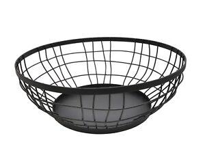 Black Metal Fruit Bowl Basket Ebay