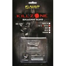 Nap Killzone Replacement Blades 100 &125gr for 3 Broadheads Deep Six & COC 60599
