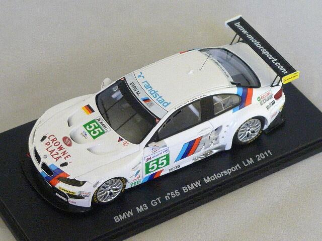 Spark s2539-bmw m3 gt bmw motorsport no. 55 le mans 2011 farfus-muller-werner