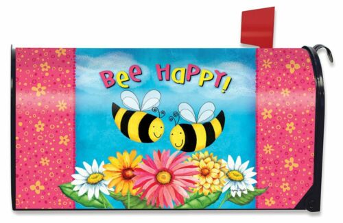Bee Happy Bees Spring Large Mailbox Cover Floral Oversized Briarwood Lane