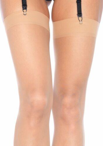 Leg Avenue Sheer Nude Plus Size Seamless Thigh High Stockings Tights Socks 1001Q