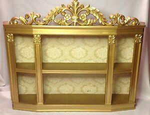 Image Is Loading Vintage Syroco Wall Shelf Ornate Gold Shadow Box