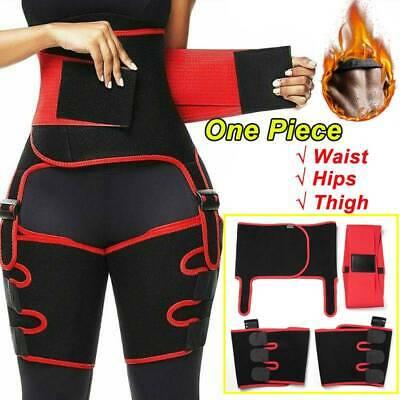 Thigh Trimmer High Waist Exercise Wrap Belt Sauna Sweat Slimming Body Shaper US