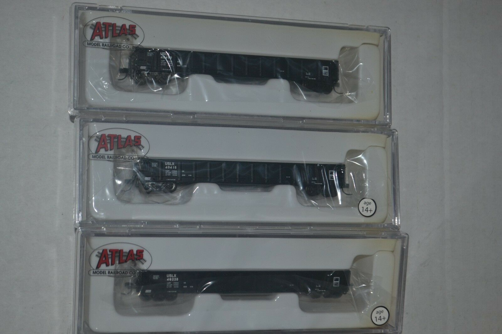 3 Atlas US Railway Equipment Evans 52' Gondola N scale 50000561, 562, 563