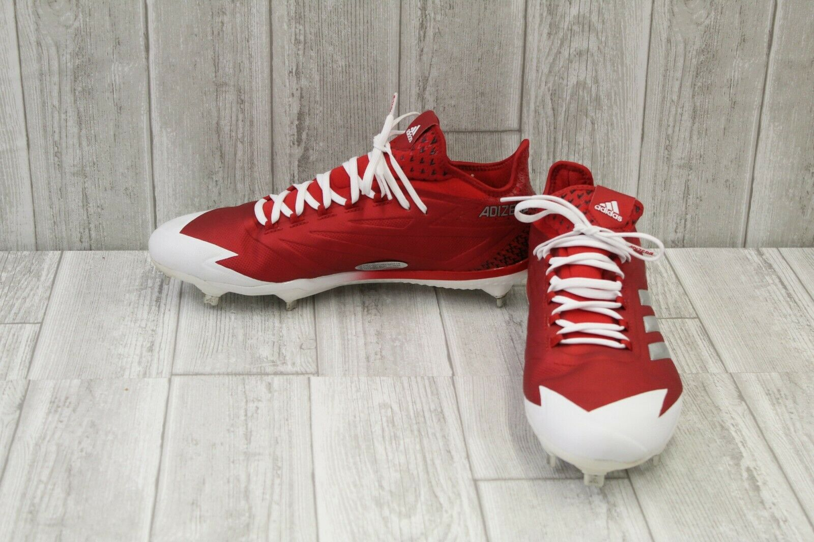 Adidas Adizero Afterburner 4 Baseball Cleats, Men's Size 13, Red White