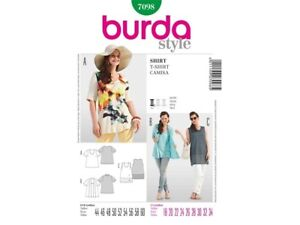 Burda-Style-Schnittmuster-Shirt-Top-Two-in-one-Nr-7098