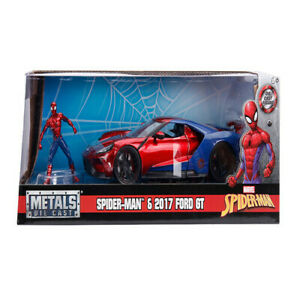 Spider-Man - 2017 Ford GT with SpiderMan 1:24 Scale Hollywood Rides Die-Cast Veh