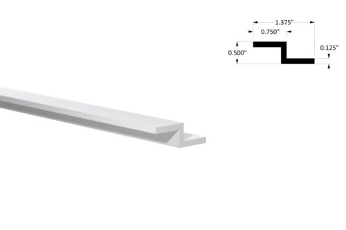 "1//2/"" x 3//4/"" x 1//8/"" Thick x 6ft Long Aluminum Z Bar"