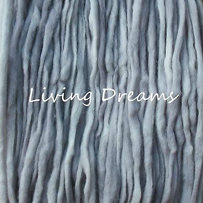 SPINNING FELTING Living Dreams PENCIL ROVING WOOL TOP FIBER hand dyed STORMY