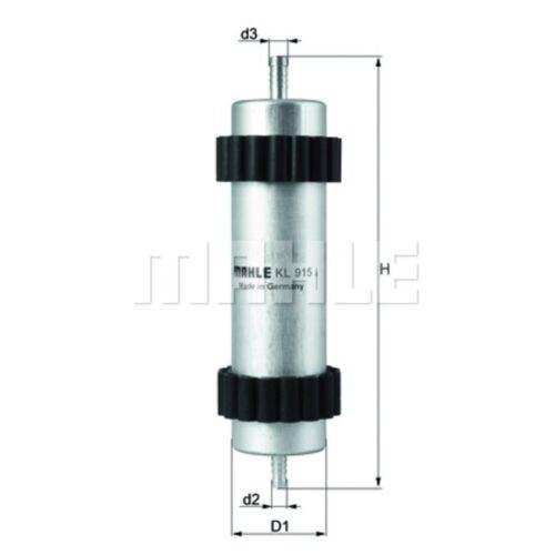 Inline filtre à carburant-mahle kl 915-voiture-compatibles avec audi A6 A7-genuine part
