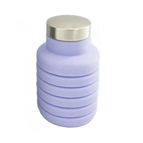 500ML Portable Silicone Water Bottle Retractable Folding Outdoor Sport Bottle