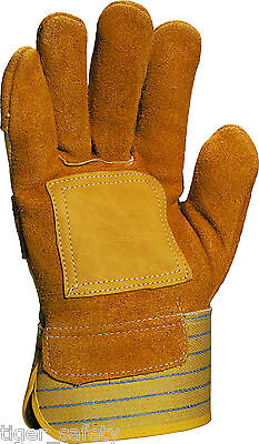 Delta Plus Venitex DS302R Cowhide Canadian Rigger Safety Work Gloves Docker PPE