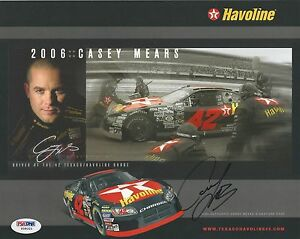 Casey Mears Signed 2006 Havoline Hero Photocard - PSA/DNA # Y09321