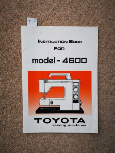 Manual Original//libro de instrucciones Toyota MÁQUINA DE COSER//OVERLOCKER Muchos Modelos