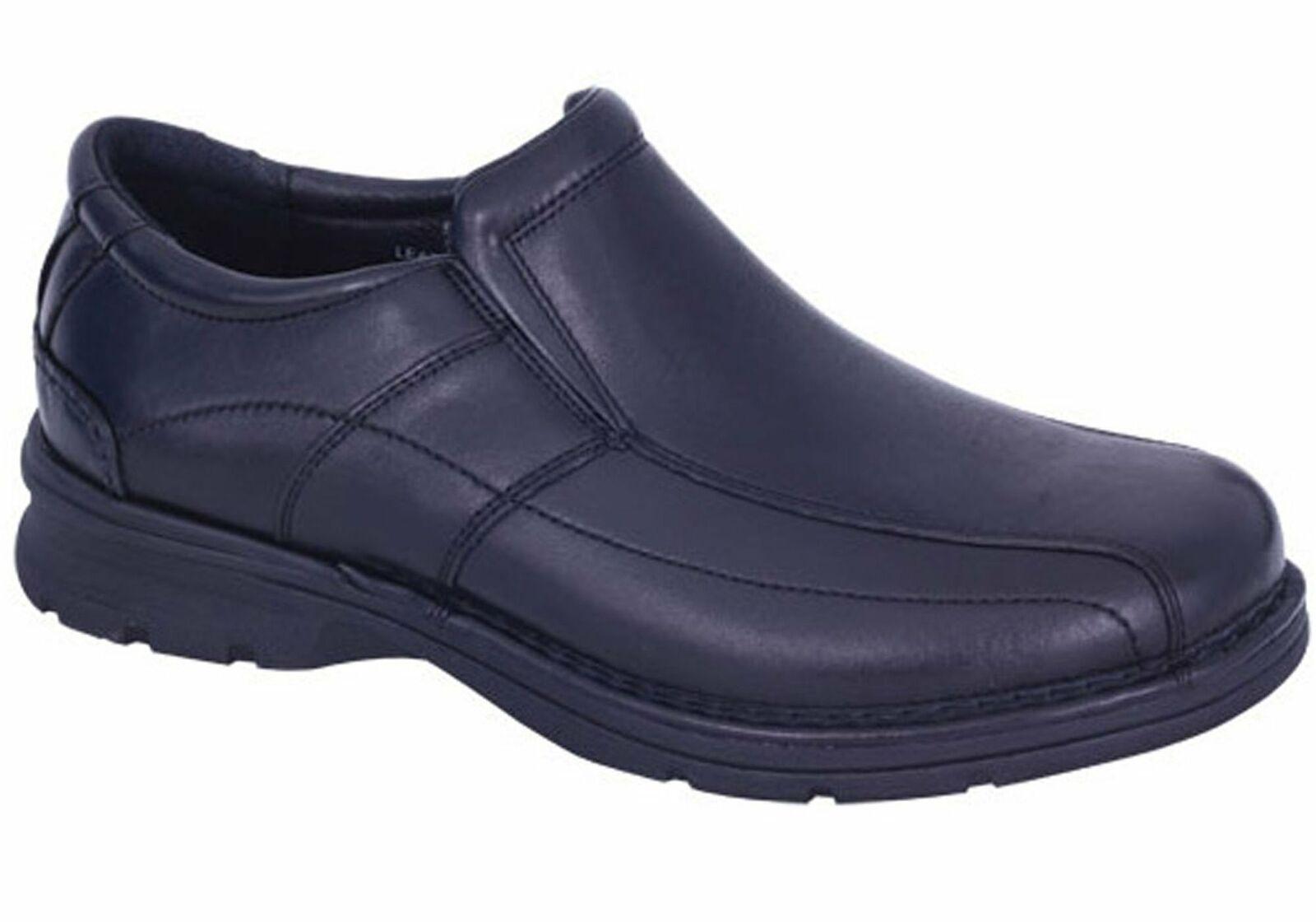 Nuevos slaters, cuero masculino, súper anchura, zapatos cómodos.