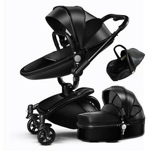 Baby Stroller 3 in 1 travel system Binet folding Combo PU ...