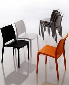 Sedie In Polipropilene Colorate.4 Sedie In Polipropilene Colorato X Cucina Bar Certificate Catas