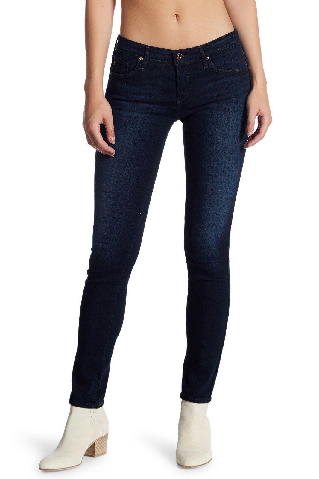 188 NWT AG Adriano goldschmied Stilt Cigarette sz 31 DARK Skinny Jeans JET SET