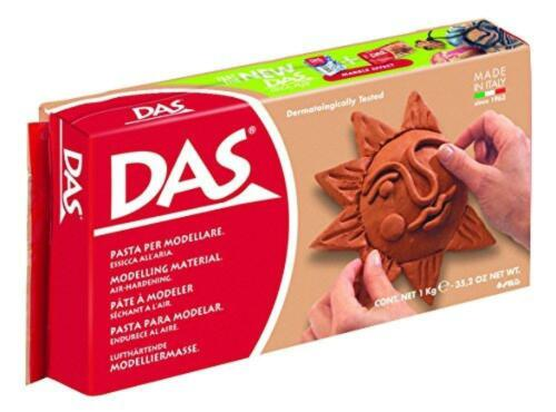 DAS Air-Hardening Modeling Clay, 2.2 Pound Block, Terra Cotta Color