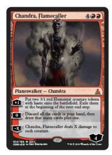 Chandra, Flamecaller Foil Zombie Planeswalker SDCC 2016 Exclusive MTG