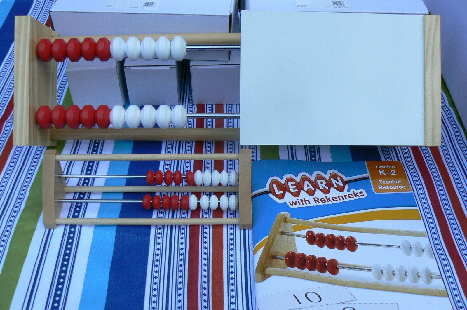 ETA hand2mind 79708 20-Bead Wood REKENREK 20pClass Set w Teacher Demo,Weißboard