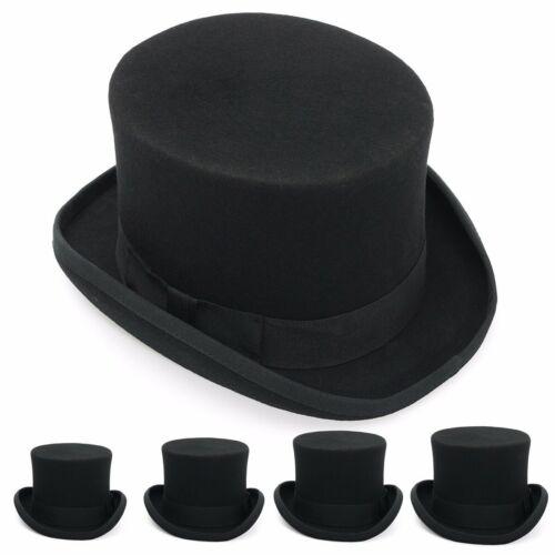 Damen Herren Zylinder Wolle Hut Mütze Zylinderhut Karneval Fasching Zauberer