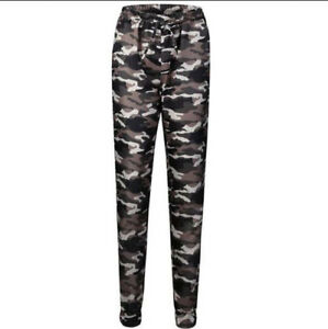 b7cc2dcef7bf8 Image is loading US-Womens-Cargo-Trousers-Camouflage-Casual-Jogger-Pants-