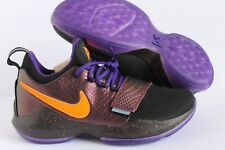 Nike PG 1 Paul George ID Black-Purple-Orange croc SZ 10 [AA1747-993]