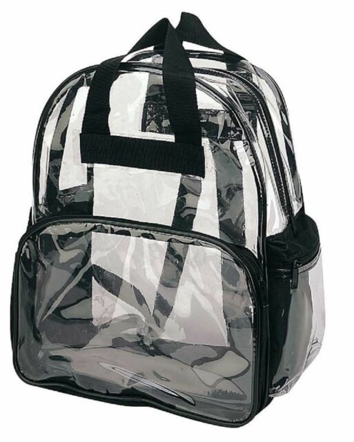 Clear Unisex Transparent School Security Backpack Book Bag Plastic Travel Bag