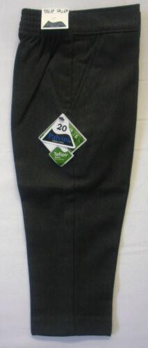 Bambini Ragazzi Nero Grigio Slim Fit School Uniform Pantaloni Pull Up Clip Chiusura a 2-13 Y