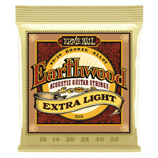 Ernie Ball Earthwood 80/20 Bronce Guitarra Acústica Cuerdas 10-50