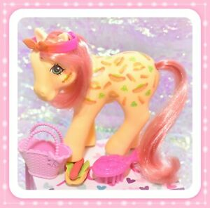 My-Little-Pony-MLP-G1-Vtg-TAF-Twice-as-Fancy-MUNCHY-Hot-Dog-Hamburger-RARE