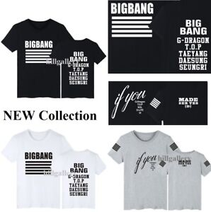 d69ee21e263 KPOP Bigbang MADE SERIES T-Shirt Big Bang GD TOP Cotton Tee Unisex ...