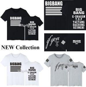 d69ee21e263 KPOP Bigbang MADE SERIES T-Shirt Big Bang GD TOP Cotton Tee Unisex ...