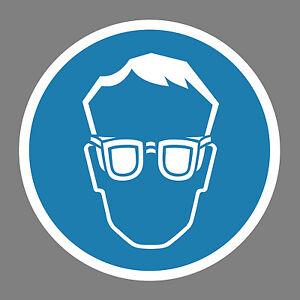 Augenschutz-benutzen-Aufkleber-Sticker-Schild-Hinweis-Verbotsschild