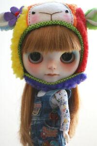Blythe-animal-hat-with-fur-chin-strap-rainbow-sheep